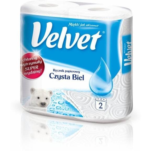 Ręcznik kuchenny VELVET czysta biel (2rolki) 151.739., rek0010036