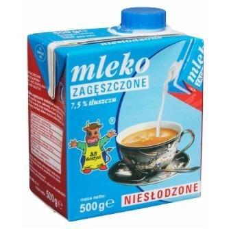 Mleko GOSTYŃ 7,5% zagęszczone niesłodzone 500g, gnk0450235