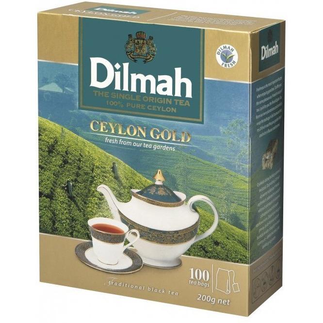 Herbata DILMAH GOLD 100szt x2g saszetki czarna, ghk0040219
