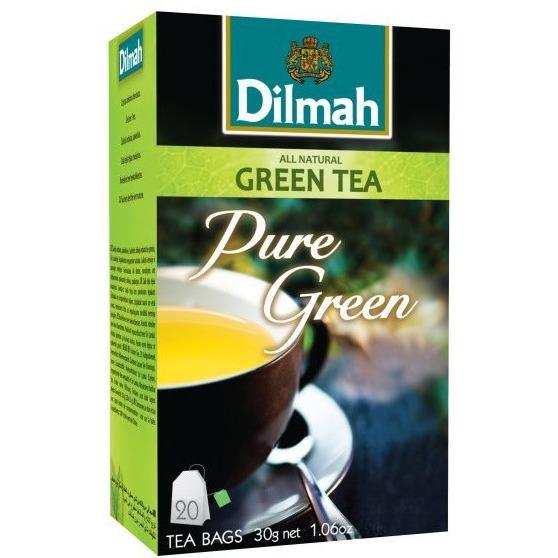 Herbata DILMAH Pure Green ekspresowa (20 saszetek) zielona, ghk0130219