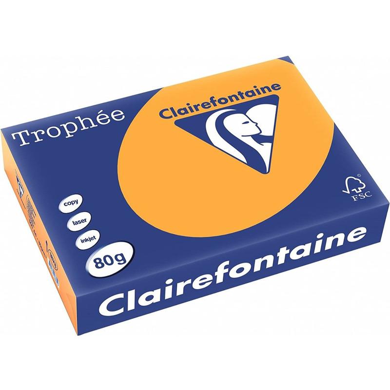 Papier xero A4 80g TROPHEE mandarynkowy XCA41878 CLAIREFONTAINE, ppk2240020
