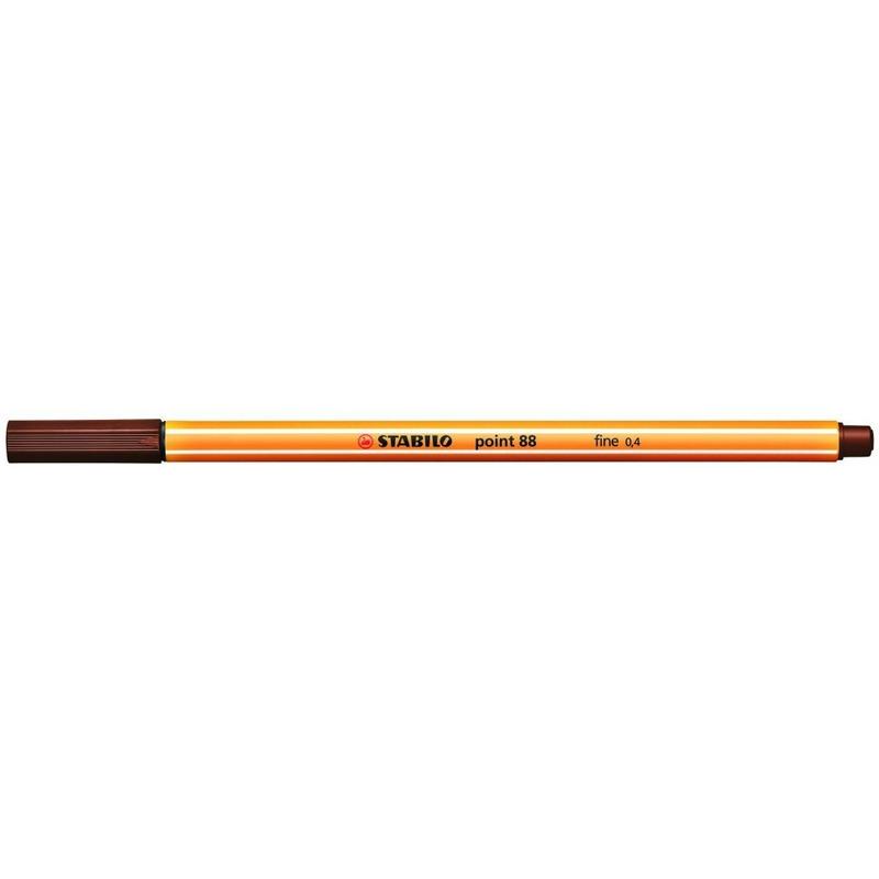 Cienkopis STABILO point 88 0.4mm brąz 88/45, cik0780245