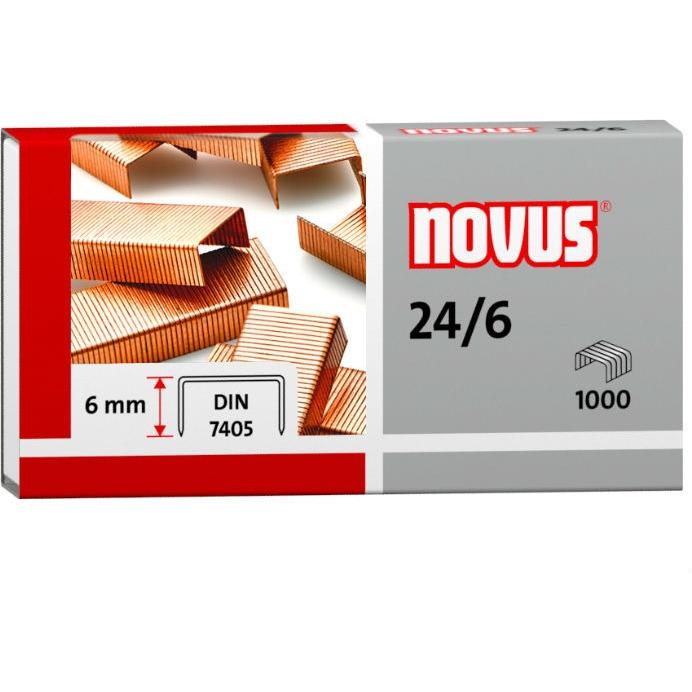 Zszywki miedziowane 24/6 1000szt NOVUS 040-206, zsk2154060