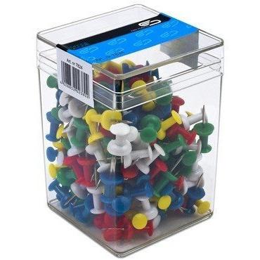 Pinezki tablicowe (200szt) 99200 VICTORY plastikowe pudełko, pzk0140023