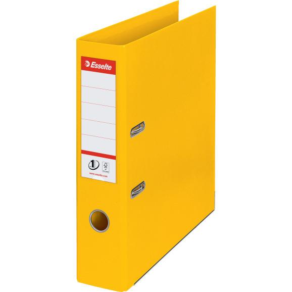 Segregator A4/75mm z mechanizmem żółty 811310 No.1 ESSELTE, sek0230087
