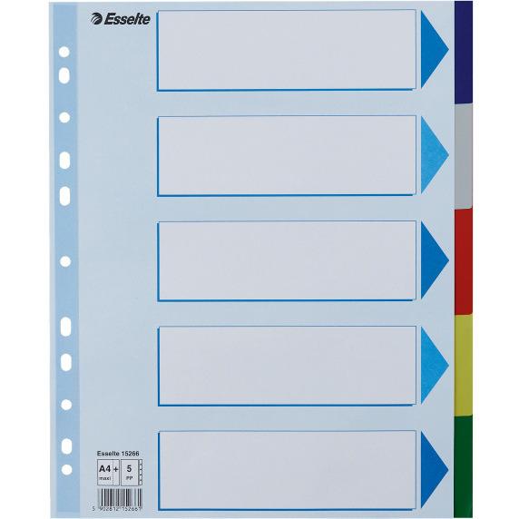 Przekładki plastikowe MAXI z PP ESSELTE 5 kart 15266, prk0110087