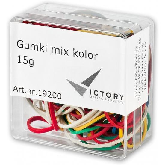 Gumki recepturki VICTORY mix kolor 15g w pudełkuVO2615G-99, guk0360023