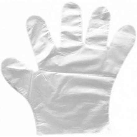 Rękawiczki foliowe HDPE jednorazowe ZRYWKI (100 sztuk), HR 0035429