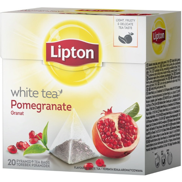 Herbata LIPTON PIRAMID WHITE TEA 20t. biała granat, GH 0058248