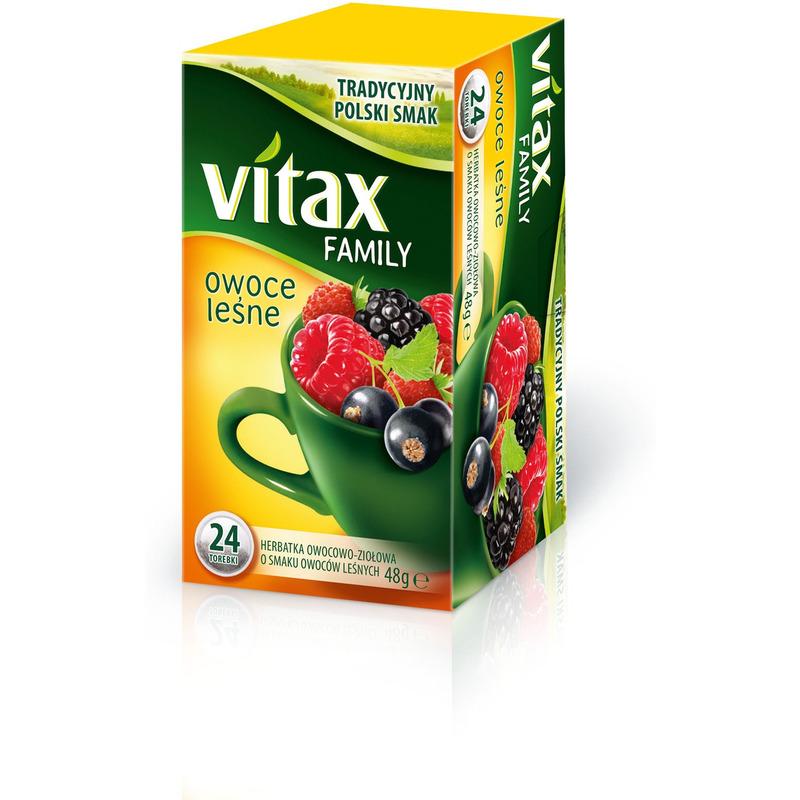 Herbata VITAX FAMILY OWOCE LEŚNE (24 saszetek) bez zawieszki, GHK0610219