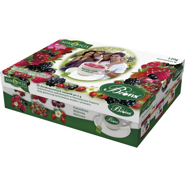 Herbata BIOFIX kompozycja 6 smaków owoc.60k., GH 0056219