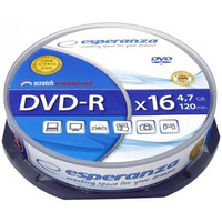 DVD-R ESPERANZA 4, 7GB X16 - CAKE BOX 10
