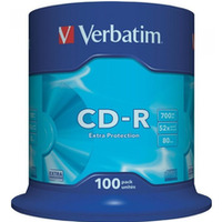 Płyta VERBATIM CD-R cake box 100 700MB 52x Extra protection